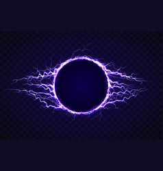 Electric circle with lightning effect vector