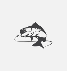 fishing logo design hook up logo vector image