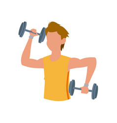 fitness man dumbbell gym sport vector image