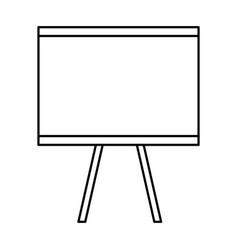 Flipchart board isolated icon vector