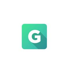 G modern gradation shadow letter logo icon design vector