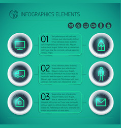 Geometric business options infographics vector