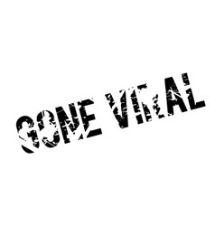 Gone viral rubber stamp vector