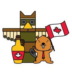 Happy canada day vector