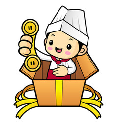 Head chef character please call me today isolated vector
