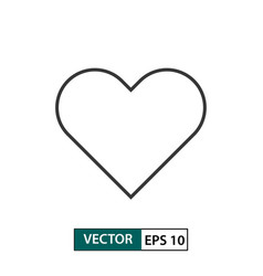 heart love icon outline style eps 10 vector image