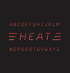 heat font alphabet vector image