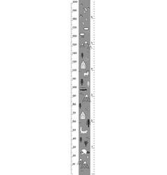 Height chart in minimalistic scandinavian vector