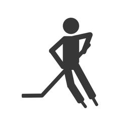 Hockey player icon vector