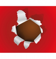 hole in a paper sheet vector image