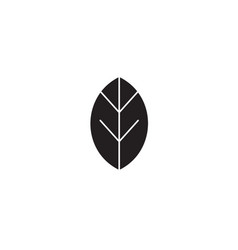 leaf black concept icon leaf flat vector image