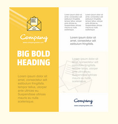 letter business company poster template with vector image