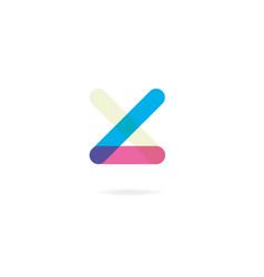 Letter x l logo icon design template elements vector