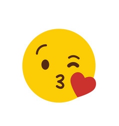 love emoji icon design vector image