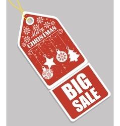 Merry christmas shopping vector image