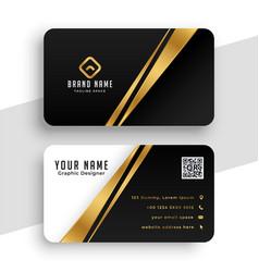 modern golden business card template design vector image