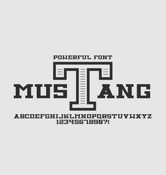 Mustang bold font vector