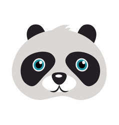 panda mask bear with black patches round eyes vector image