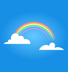 Rainbow with clouds vector