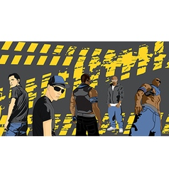 Rap artists on a black background vector image