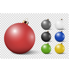 realistic 3d white christmas glossy glass vector image
