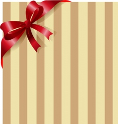 red ribbon on stripe background vector image