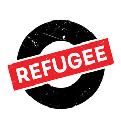 Refugee rubber stamp vector
