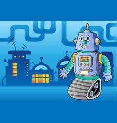 Robot theme image 1 vector