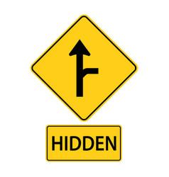 Sa traffic road signsdriver on sideroad vector