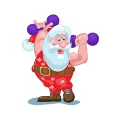 Santa is going to carry gifts plays sports vector