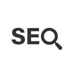 seo analytics icon in flat style social media on vector image