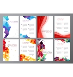 set Abstract modern flyer brochure design vector image