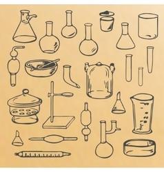 Set glassware vector