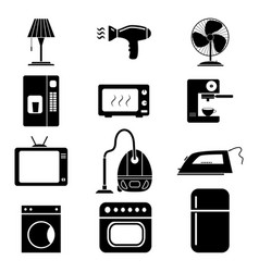 set of electronic home icons vector image