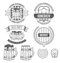 Set of vintage badge emblem or logotype elements vector