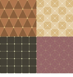 Set Of Vintage Pattern Background vector image