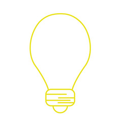 Silhouette light energy bulb to illumination vector