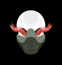 skull protective mask hell defender terrible vector image