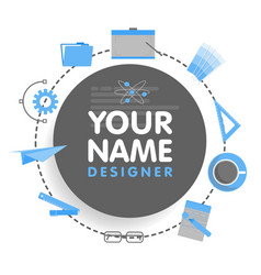 Social network designer avatar place for your vector