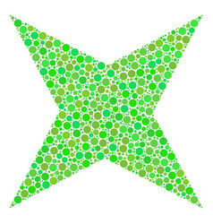 Sparkle star mosaic of dots vector