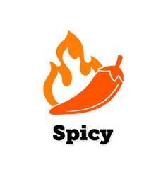 spicy chili hot pepper icon food jalapeno vector image