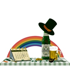 St Patricks Day on the table vector image