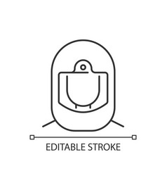 surgical helmet linear icon vector image