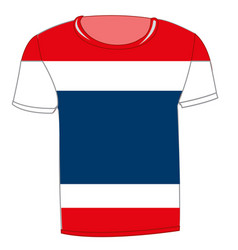 t-shirt flag tailand vector image