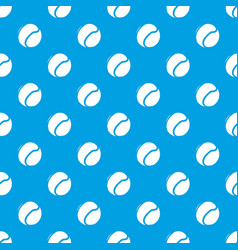tennis ball pattern seamless blue vector image