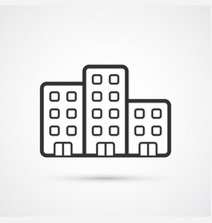 the property flat line icon eps10 vector image
