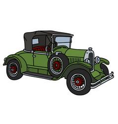The vintage green roadster vector