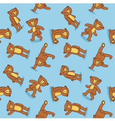 Toy bear pattern vector