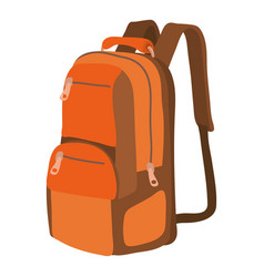 Travel backpack icon cartoon style vector