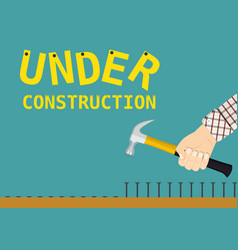 Under construction page sign vector